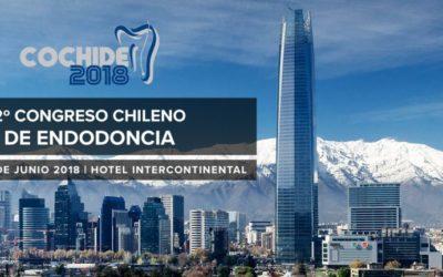 2º Congreso Chileno de Endodoncia, COCHIDE 2018, a realizarse los días jueves 14, viernes 15 y sábado 16 de junio, en el Hotel Intercontinental.