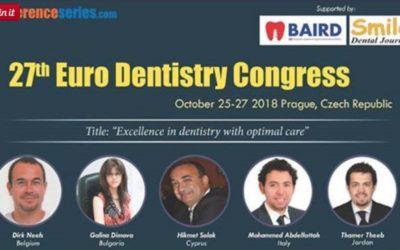 Euro Dentistry 2018, October 25-27 2018 Prague, Czech Republic